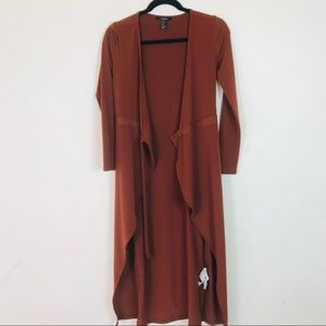 Forever 21 Rust Fall Colors Long Jacket Size Small